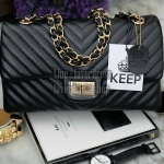 KEEP รุ่น KEEP shoulder chevron chain handbag