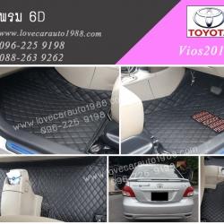 พรม6D Toyota Vios2012 สีดำด้ายดำ