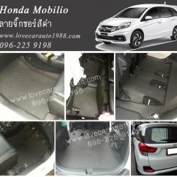 ยางปูพื้นรถยนต์ Honda Mobilio ลายจิ๊กซอร์สีดำ