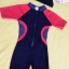 ชุดว่ายน้ำเด็กบอดี้สูท สีดำ แขนแดง แถบเทาแดง แขนสั้น ความยาวแค่เข่า thumbnail 1