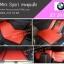 ยางปูพื้นรถยนต์ BMW X3 2016 กระดุมเล็กแดงขอบดำ