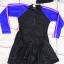 ชุดว่ายน้ำเด็กผู้หญิงกระโปรงพร้อมหมวก ข้างในเป็นกางเกงขาสั้น ชุดสีดำ แขนน้ำเงินแถบชมพู thumbnail 1