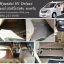 พรมปูพื้นรถยนต์ Hyundai H1 Deluxe 2013 ไวนิลสีโอวัลติน ขอบครีม