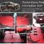 ยางปูพื้นรถยนต์ Proton Exora ลายกระดุมสีแดง ขอบดำ