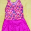 ชุดว่ายน้ำเด็กผู้หญิงลายดอกไม้ กระโปรงสีชมพู สวย หวาน น่ารัก thumbnail 1
