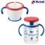 เซตถ้วยหลอดดูดกันสำลักพร้อมถ้วยฝึกดูด Richell Straw training mug & Clear straw bottle mug thumbnail 1