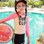ชุดว่ายน้ำเด็ก สีชมพู SurfClub แขนยาว ขายาว ไม่มีหมวก thumbnail 1