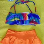 ชุดว่ายน้ำเด็ก ลายกราฟฟิก น่ารักสดใส แยกเป็น 2 ชิ้น