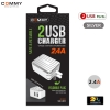 Adapter AD206 Dual 2 USB (2.4A) Silver