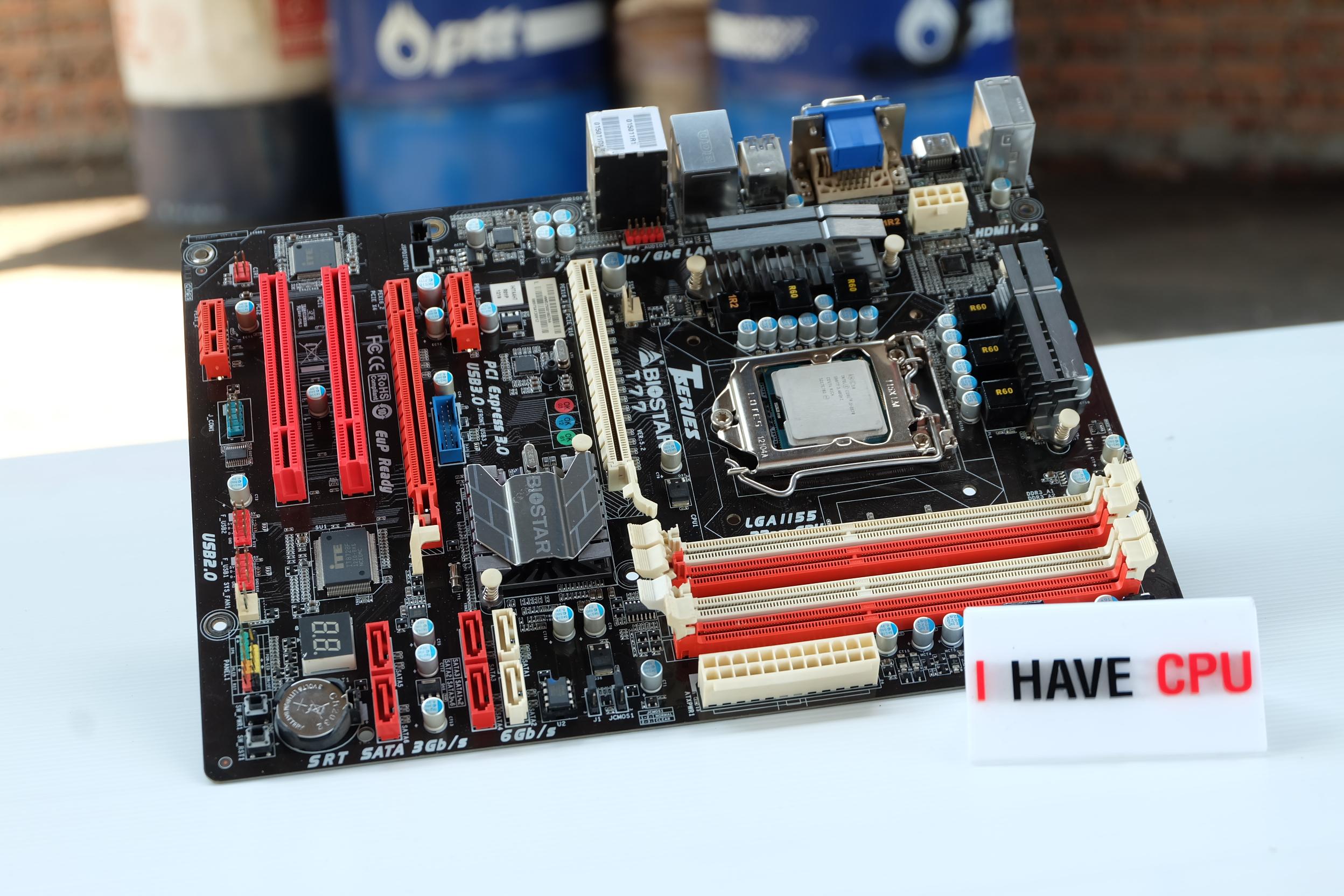 i5-3570 3.8Ghz 4C 4T + Biostar T77