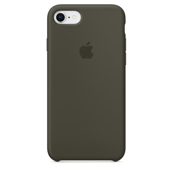 เคสซิลิโคน iPhone 7 8 Plus สีเขียวมะกอกเข้ม ( Original )