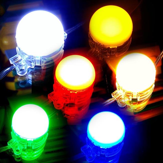 ไฟแอลอีดีหัวปิงปอง 1 ดวง 24v./0.85w สีขาว สีวอมไวท์ สีแดง สีเขียว สีน้ำเงิน สีน้ำเงิน ไฟปิงปองสีเดียว หลากสี เหมาสำหรับทำป้ายเรโท ป้ายย้อนยุคป้ายสมัยใหม่
