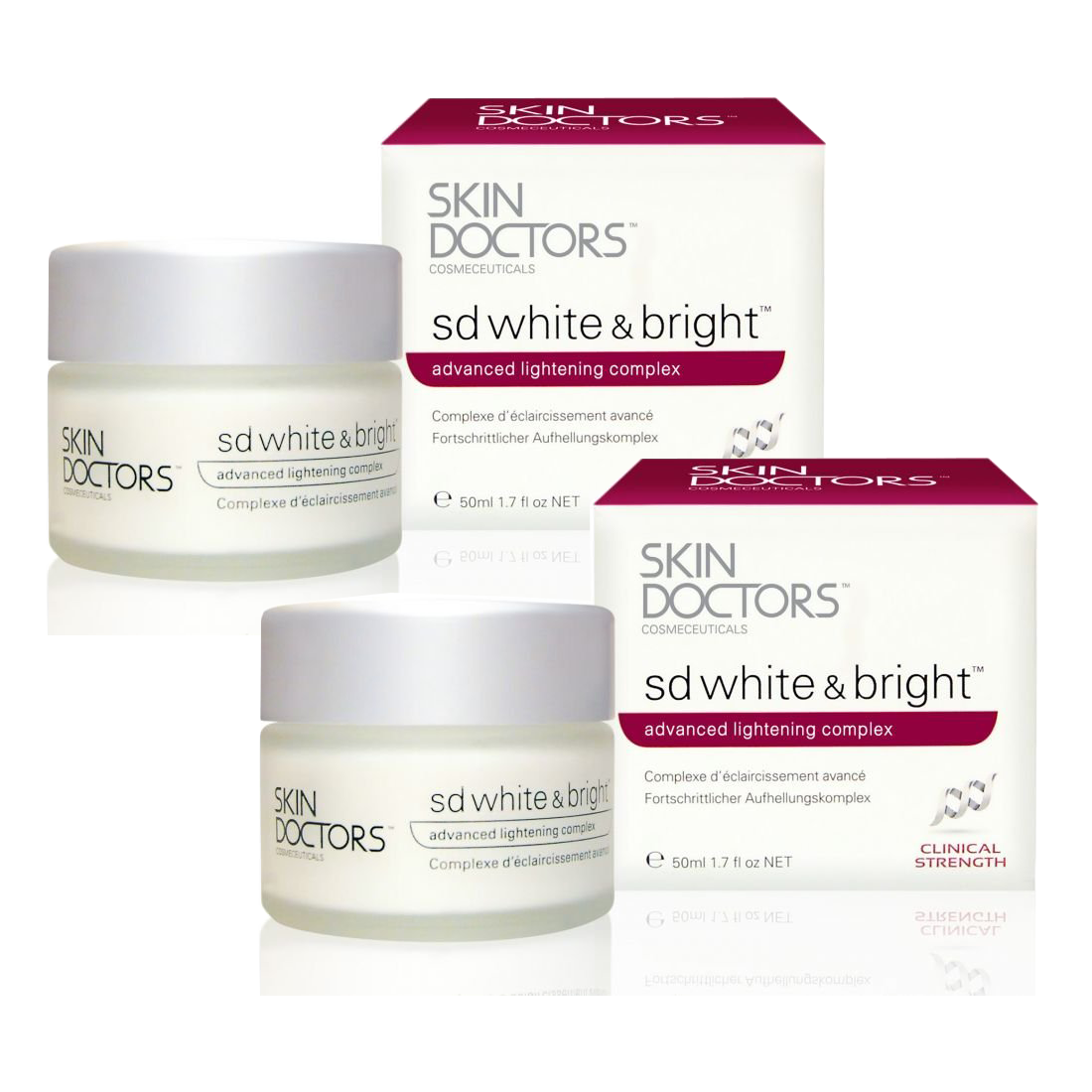 Skin Doctors SD White & Bright 50ml. (2 ชิ้น)