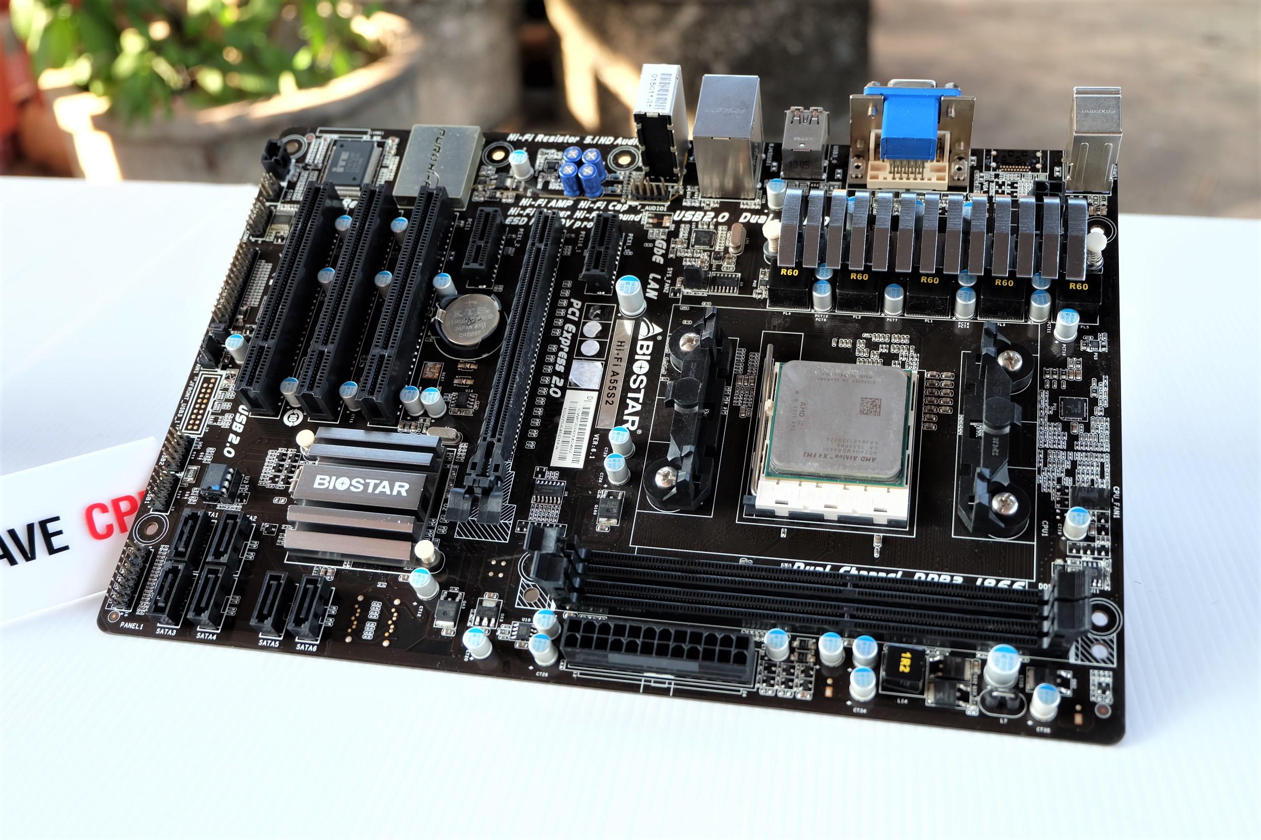 AMD A4-6300 3.7Ghz Turbo 3.9Ghz / BIOSTAR Hi-Fi A55S2