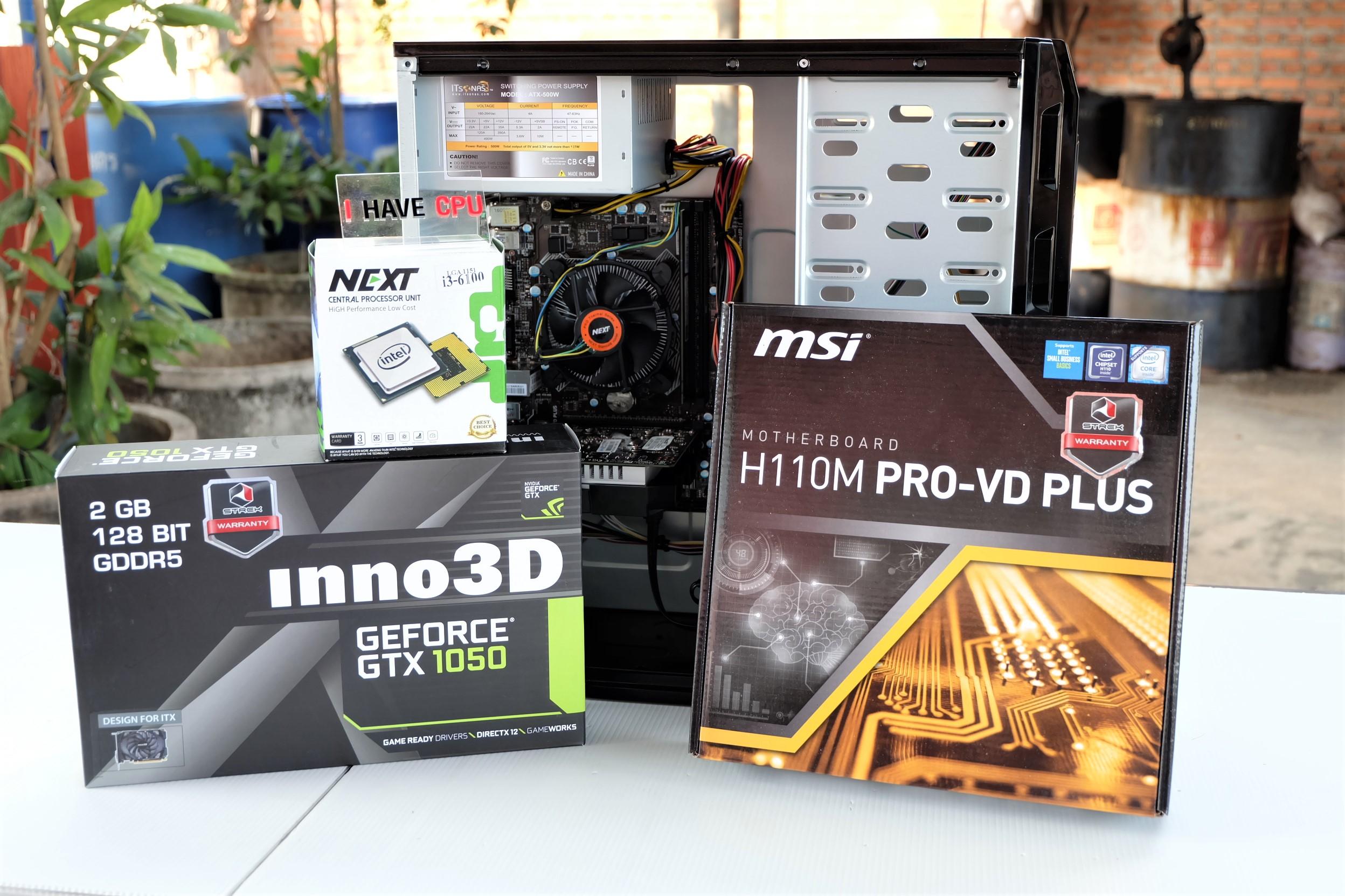 ของใหม่ Pentium G4560/H110/GTX 1050/1TB/4GB