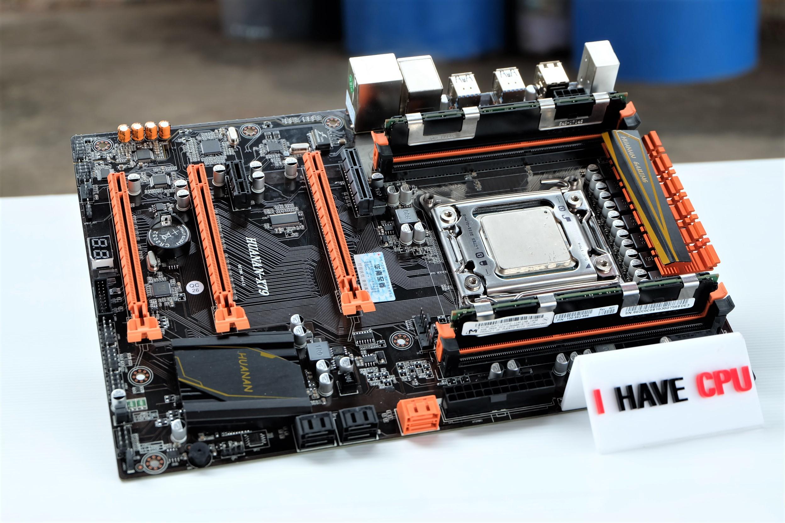 CPU : E5-2630 V2 Turbo 3.1Ghz 6 Core 12 Thread MB : Huanan X79 ของใหม่ RAM : 16GB DDR3 ECC 1600Mhz