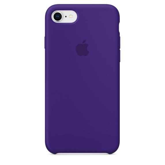 เคสซิลิโคน iPhone 7 8 Plus สีม่วงไวโอเล็ตเข้ม ( Original )